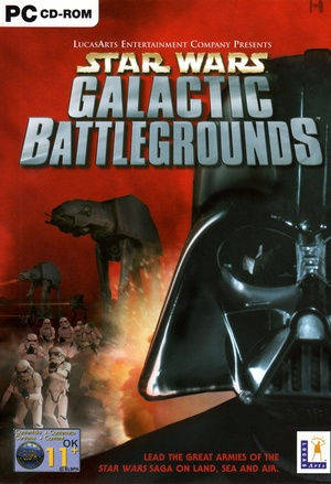 Cover for Star Wars: Galactic Battlegrounds.