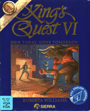 Cover for King's Quest VI: Heir Today, Gone Tomorrow.