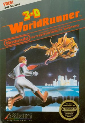 Cover for 3-D WorldRunner.