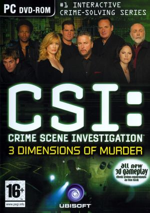 Cover for CSI: 3 Dimensions of Murder.