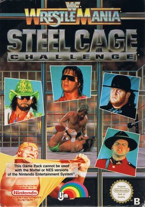 Cover for WWF WrestleMania: Steel Cage Challenge.