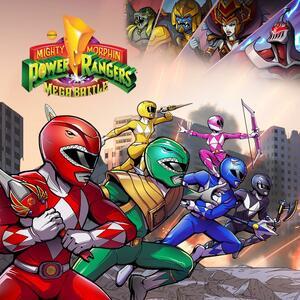 Cover for Mighty Morphin Power Rangers: Mega Battle.