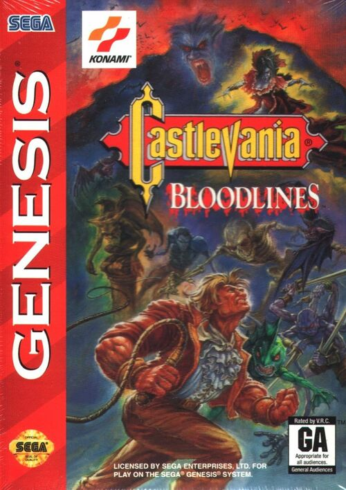 Cover for Castlevania: Bloodlines.
