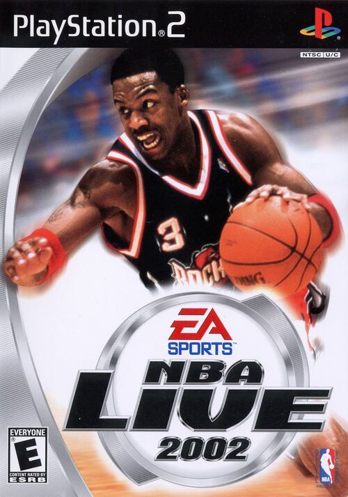 Cover for NBA Live 2002.