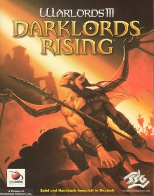 Cover for Warlords III: Darklords Rising.
