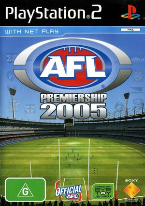Cover for AFL Premiership 2005.