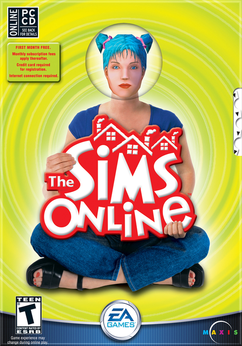 Cover for The Sims Online.