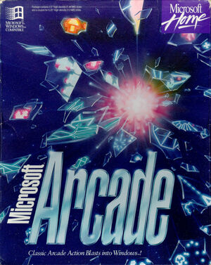 Cover for Microsoft Arcade.