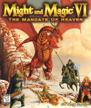 Cover for Might and Magic VI: The Mandate of Heaven.