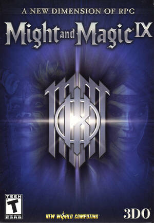 Cover for Might and Magic IX.