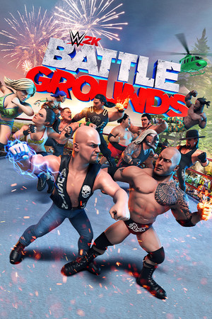 Cover for WWE 2K Battlegrounds.