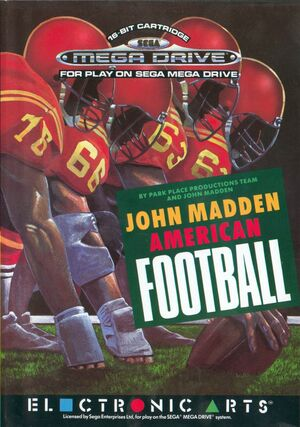 Cover for John Madden Football.