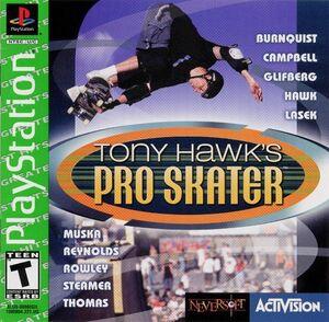 Cover for Tony Hawk's Pro Skater.