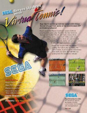 Cover for Virtua Tennis.