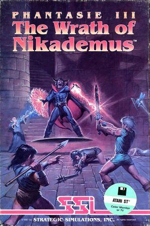 Cover for Phantasie III: The Wrath of Nikademus.