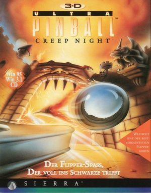 Cover for 3-D Ultra Pinball: Creep Night.