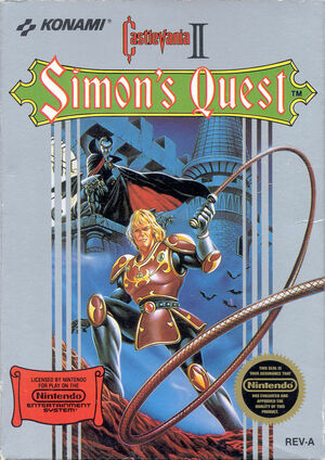 Cover for Castlevania II: Simon's Quest.