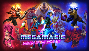 Cover for Megamagic: Wizards of the Neon Age.