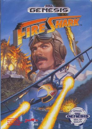 Cover for Fire Shark.