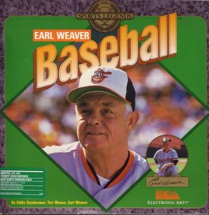 Cover for Earl Weaver Baseball.