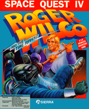 Cover for Space Quest IV: Roger Wilco and The Time Rippers.