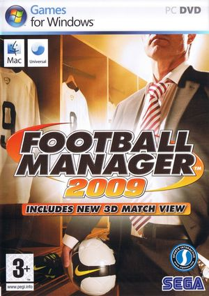 Cover for Football Manager 2009.