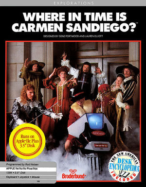 Cover for Where in Time Is Carmen Sandiego?.
