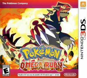 Cover for Pokémon Omega Ruby.