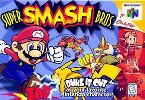 Cover for Super Smash Bros..
