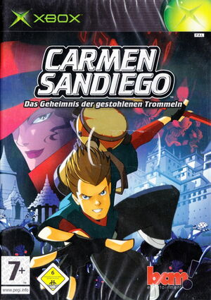 Cover for Carmen Sandiego: The Secret of the Stolen Drums.