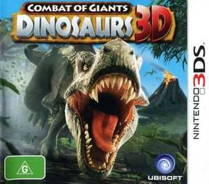 Cover for Combat of Giants: Dinosaurs 3D.