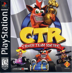 Cover for Crash Team Racing.
