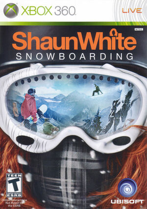 Cover for Shaun White Snowboarding.