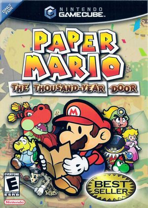 Cover for Paper Mario: The Thousand-Year Door.