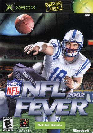 Cover for NFL Fever 2002.