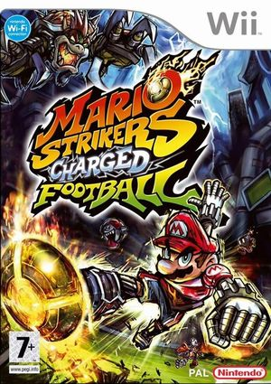 Cover for Mario Strikers Charged.