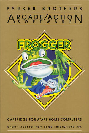 Cover for Frogger.