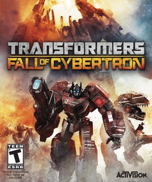 Cover for Transformers: Fall of Cybertron.