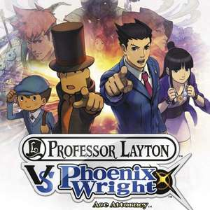 Cover for Professor Layton vs. Phoenix Wright: Ace Attorney.