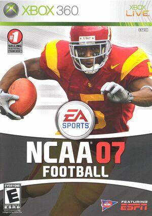 Cover for NCAA Football 07.