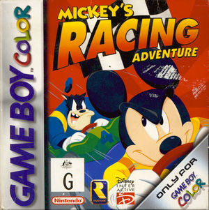 Cover for Mickey's Racing Adventure.