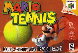 Cover for Mario Tennis.