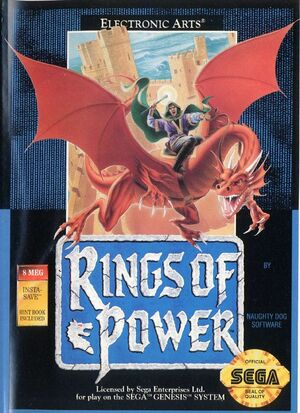 Cover for Rings of Power.
