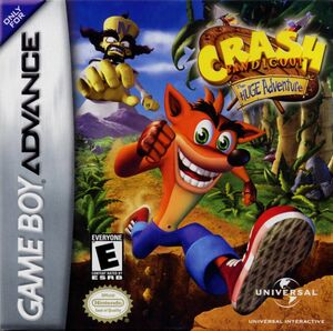Cover for Crash Bandicoot: The Huge Adventure.